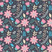 Colorful floral seamless pattern — Stock Vector