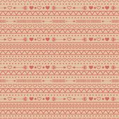 Seamless pattern with arrows and hearts — Stock Vector