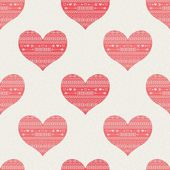 Pattern with hearts — Wektor stockowy