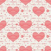 Pattern with hearts and arrows — Stock Vector