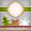 Stock Vector: Christmas background.