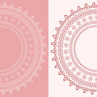 Stock Vector: Round lace doily.
