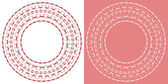 Round lace doily. — Stock Vector