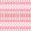 Vector de stock : Set pink ribbon.