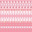 Set pink ribbon. — Stock Vector