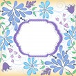 Floral background. Blue — Stock Vector