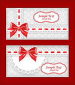 Greeting card with bow. — Stock Vector
