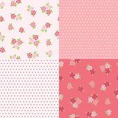 Set floral patterns for scrapbook. — Stock Vector