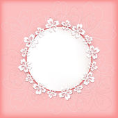 Floral background with frame. — Stock Vector