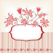 Frame with flowers. — Stock Vector