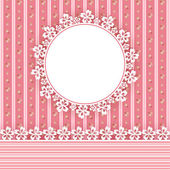 Floral background with frame — Stock Vector