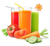 Fresh vegetable juices — Stock Photo