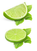 Pieces of lime — Stock Photo
