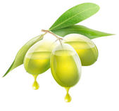 Transparent olives with oil — Stock Photo