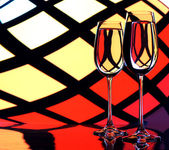 Two glasses — Stockfoto