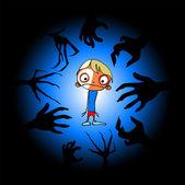 Childrens horror — Stock Vector