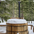 Winter hot tub - Stock Photo