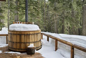 Winter hottub — Stockfoto