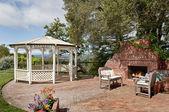Piscina de patio bonito — Foto de Stock