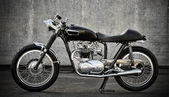 Cafe Racer motorcycle — Stock Photo