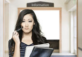 Confused student — Stock Photo