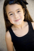 Cute six year old girl — Stock Photo
