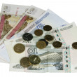 Постер, плакат: The money hundred fifty and ten Russian rubles and coin