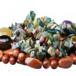 Beads from stones of semi-precious stones — Stockfoto