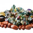 Beads from stones of semi-precious stones — Stock Photo