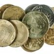 Stock Photo: Scattering of coins