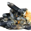 Brush of black quartz — Stock Photo