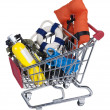 Shopping Cart full of Water Sport Equipment — Stock Photo