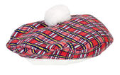 Plaid Beret — Stock Photo