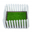Enclosed Grass Yard — Stock Photo