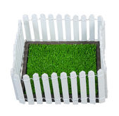 Enclosed Grass Yard — Stock Photo