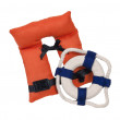 Life Vest and Life Preserver - Stock Photo