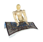 Turning on a Flying Carpet — Stock Photo