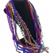 Mardi Gras Beads on a Neck Form - 