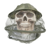 Bee Keeper Hat on Skull — Stock Photo