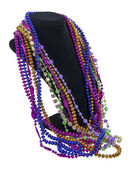 Mardi Gras Beads on a Neck Form — Stock Photo