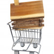 Log Cabin in Shopping Cart — Stock Photo #18663277