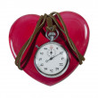 Stopwatch on a Red Heart — Stock Photo #18663295