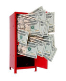 Money in Locker — Stock Photo