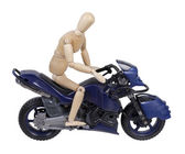 Riding a Motorcycle — Stock Photo
