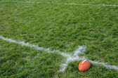 American Football on Natural Grass Turf — Stock Photo