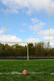 Goal Posts on American Football Field — Stock Photo