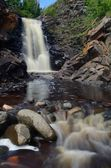 Waterfall and River Rocks — Stock Photo