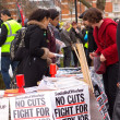 Tottenham cuts march, London. — Foto de Stock