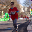 Boys run in the london marathon — Stock Photo