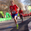 Boys run in the london marathon. — Stockfoto